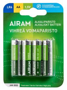 GRÖN POWER 4-Pack LR6 (AA) 1,5V Batteri