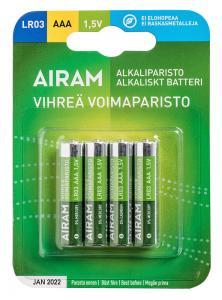 GRÖN POWER 4-Pack LR03 (AAA) 1,5V Batteri