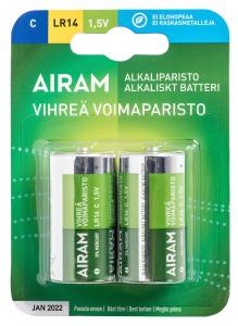 GRÖN POWER 2-Pack LR14 C 1,5V Batteri