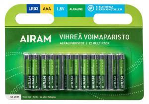 GRÖN POWER 12-Pack LR03 (AAA) 1,5V Batteri
