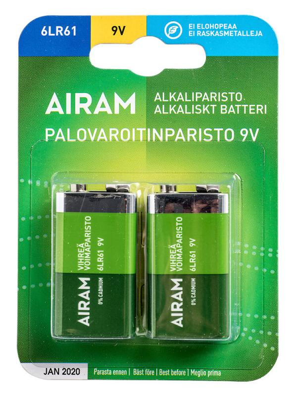 GRÖN POWER 2-Pack 6LR61 9V Batteri