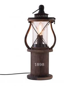 1898 Bordslampa 40cm Brun/Glas