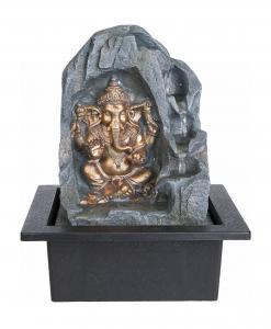 Inomhusfontän Ganesha Brons 27cm LED