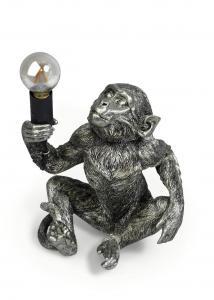 APA Bordslampa Sittande 23cm Silver