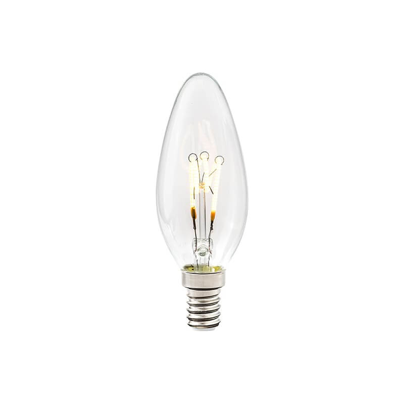 E14 3-Stegs Dimbar Kronljus 4W 2700K 250lm Klar LED-Lampa