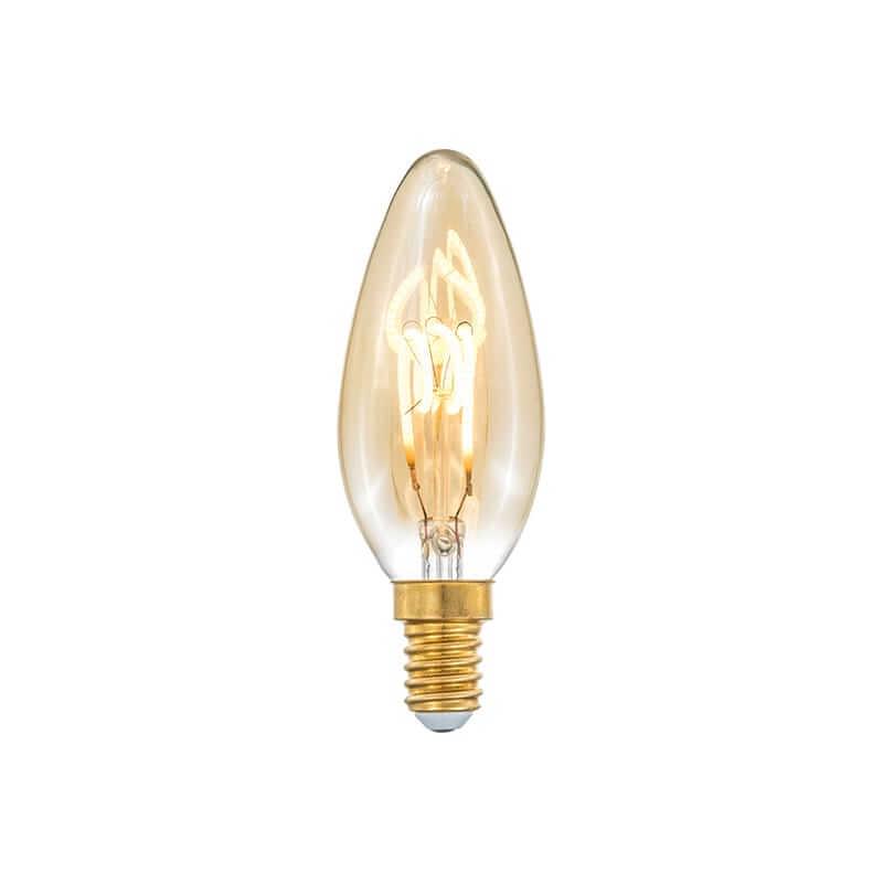 E14 3-Stegs Dimbar Kronljus 4/2,2/0,8W 150lm 2000K Amber