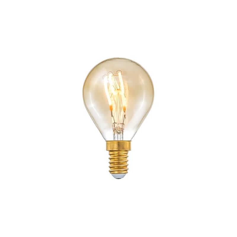 E14 3-Stegs Dimbar Klot 4W 2000K 150lm Amber LED-Lampa
