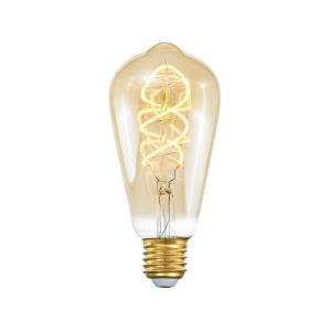 E27 3-Stegs Dimbar Tubural 4W 2000K 250lm Amber LED-Lampa