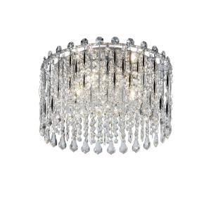 AVENIDA Kristallplafond 40cm Krom/K9 kristall