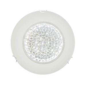 CLUSTER LED-Plafond Rund 30cm Frostad/Kristall
