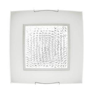 CLUSTER LED-Plafond Fyrkantig 38cm Frostad/Kristall