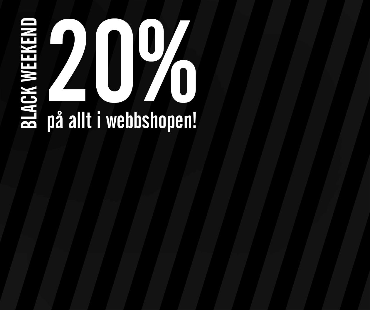 Ljus & Miljö Black Weekend 2019 - 20% på allt i butiken!
