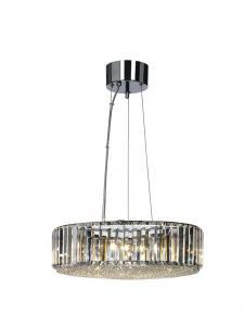 ESPLANAD Takpendel 47cm Krom/Kristall