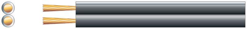 Högtalarkabel svart 1,32mm2