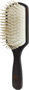 TEK Large paddle brush with long wooden pins, Wenge