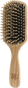TEK Large paddle brush with short wooden pins