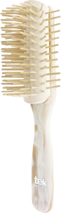 TEK Big disassembled brush with long wooden pins pearly white