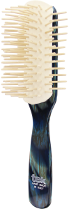 TEK Big disassembled brush with long wooden pins blue horn