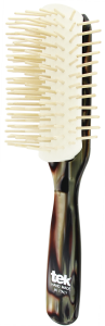 TEK Big disassembled brush with long wooden pins nacre