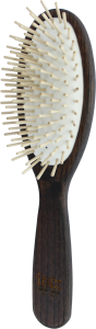 TEK Big oval hair brush with short wooden pins, Wenge