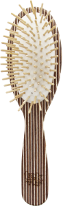 TEK Big oval brush (brown, white, wenghé) FSC 100%