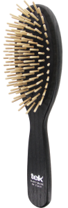 TEK Big oval hair brush with short wooden pins