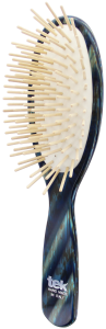 TEK Big oval brush with long wooden pins blue horn
