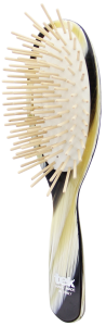 TEK Big oval brush with long wooden pins horn