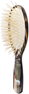 TEK Big oval brush with long wooden pins nacre