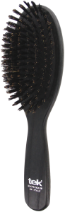 TEK Big oval cushion brush with 100% wild boar bristles
