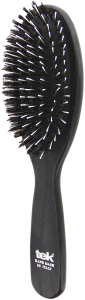 TEK Big oval cushion brush with wild boar bristles and nylon