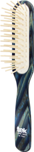 TEK Slim rectangular brush with long pins, blue horn