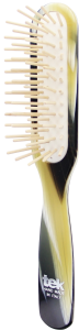 TEK Slim rectangular brush with long pins, horn