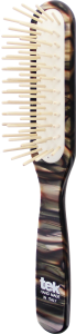 TEK Slim rectangular brush with long pins, nacre