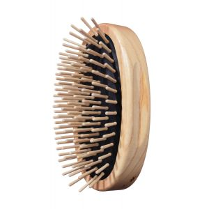 TEK Oval military style hair brush with short wooden pins