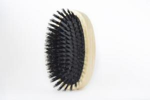 TEK Oval cushion brush with 100% wild boar bristles, without handle