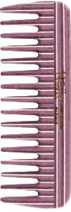 TEK Medium sized comb in kaleidowood wide teeth (white, pink, violet)