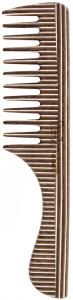 TEK Comb with handle in kaleido wood wide teeth (brown, white, wenghé)