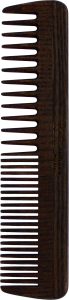 WENGHE Large wooden comb with wide and medium sized teeth