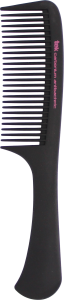 TEK Antibacteric carbonium comb with handle medium sized teeth