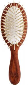 TEK Big oval hair brush in padouk wood long wooden pins