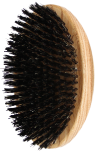 TEK Oval military style hair/beard brush with wild boar bristles and nylon
