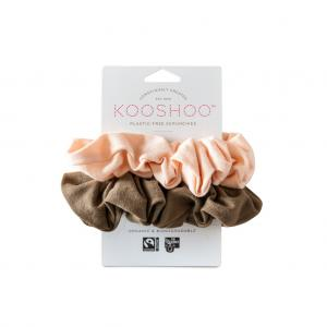 Organic Scrunchies by KOOSHOO - Blush Walnut