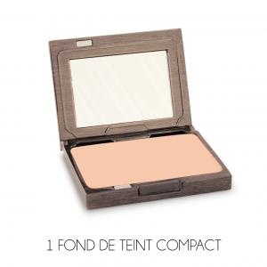 Couleur Caramel Signature Case+Refill N°01 Creamy Compact foundation