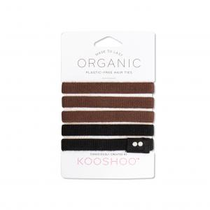 KOOSHOO Organic Hair Ties - Brown/Black