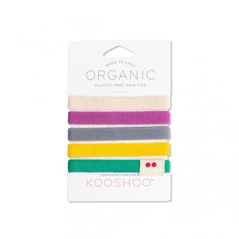 KOOSHOO Organic Hair Ties - Colorful