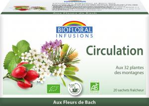 Biofloral Infusion with Bach Flowers Circulation 20 bags