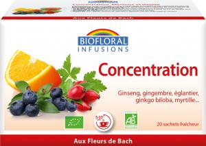 Biofloral Infusion with Bach Flowers Concentration 20 bags