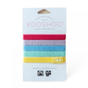 KOOSHOO Organic Hair Ties - Rainbow