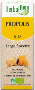 HerbalGem Organic Propolis Large Spectrum 15ml